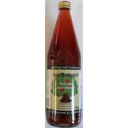 Apple juice with raspberry
